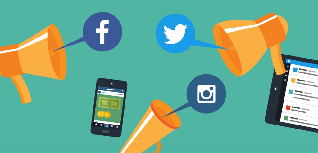 Le reach d'instagram, twitter et facebook