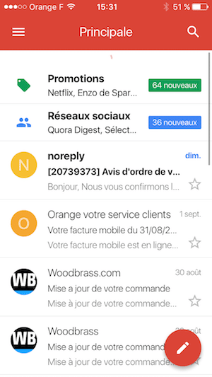 page d'accueil gmail