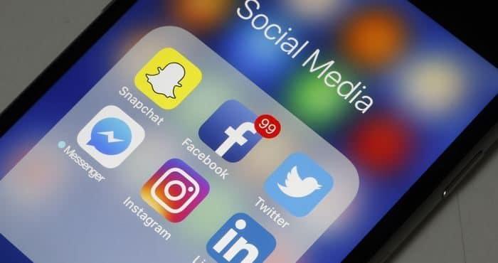 Logo de différents réseaux sociaux