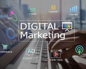 Digital marketing seo email contenu analyse e commerce publicité video d'entreprise et social media